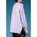 cheap Slit Batwing Sleeve Pullover Sweater