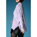 Slit Batwing Sleeve Pullover Sweater deal