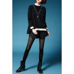 Color Block Batwing Sleeve Pullover Sweater deal