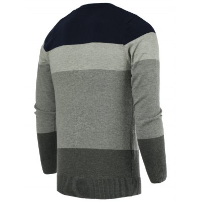 Round Neck Color Block Splicing Long Sleeve Sweater For MenMens Sweaters &amp; Cardigans<br>Round Neck Color Block Splicing Long Sleeve Sweater For Men<br><br>Type: Pullovers<br>Material: Cotton,Polyester<br>Sleeve Length: Full<br>Collar: Round Neck<br>Style: Fashion<br>Weight: 0.357kg<br>Package Contents: 1 x Sweater