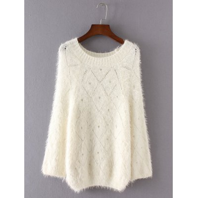 Hollow Out Shaggy Sweater