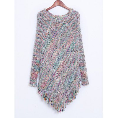 Colorful Shaggy Fringed Sweater