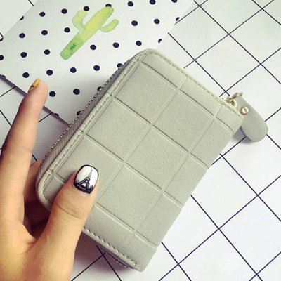 Simple Solid Colour and Plaid Pattern Design Wallet For WomenWomens Wallets<br>Simple Solid Colour and Plaid Pattern Design Wallet For Women<br><br>Wallets Type: Mini Wallets<br>Gender: For Women<br>Style: Fashion<br>Closure Type: Zipper<br>Pattern Type: Plaid<br>Main Material: PU<br>Width: 8CM<br>Weight: 0.350kg<br>Package Contents: 1 x Wallet