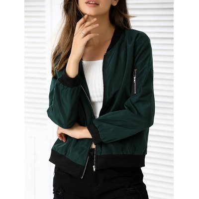 Long Sleeve Pocket Zipper Design Jacket
