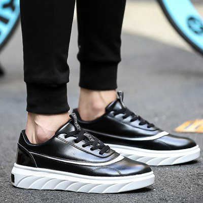 Leisure Color Block and Lace-Up Design Casual Shoes For Men