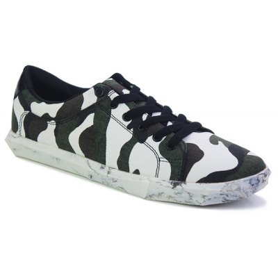 Camouflage Pattern Design Casual Shoes For Men