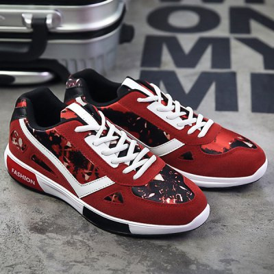 Fashion Lace-Up and Color Block Design Athletic Shoes For Men