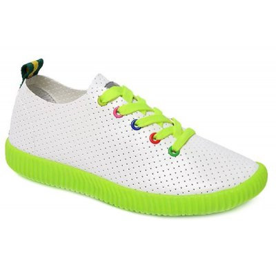 Colorful Eyelet Design Athletic Shoes For Women