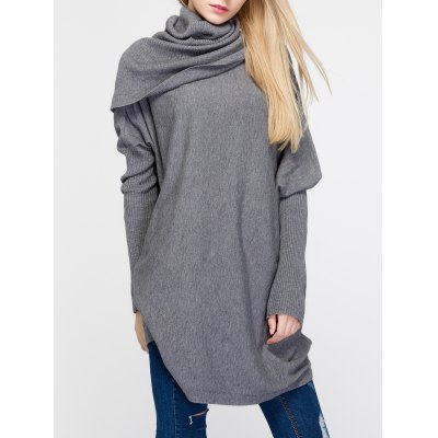 Oversized Turtleneck Tunic Long SweaterSweaters &amp; Cardigans<br>Oversized Turtleneck Tunic Long Sweater<br><br>Collar: Turtleneck<br>Material: Nylon<br>Package Contents: 1 x Sweater<br>Pattern Type: Solid<br>Season: Fall, Spring, Winter<br>Sleeve Length: Full<br>Style: Fashion<br>Type: Pullovers<br>Weight: 0.432kg