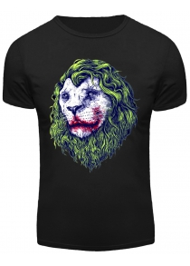 3D Joker Lion Print Round Neck Short Sleeve T-Shirt For Men