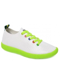 Leisure Breathable and Colorful Eyelet Design Athletic Shoes For Women