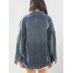 Trendy Applique Loose Fitting Jacket For Women deal