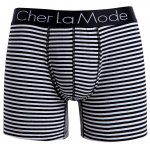 Cherlamode (Three Color) 3PCS U Pouch Design Stripe Boxer Shorts For Men photo