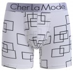 Cherlamode 3PCS (Three Color) Geometric Pattern Boxer Briefs For Men for sale