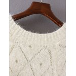Openwork Loose-Fitting Shaggy Sweater deal