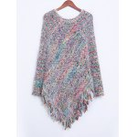 cheap Colorful Shaggy Fringed Sweater