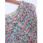 Colorful Shaggy Fringed Sweater deal