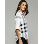 V Neck Color Block Tunic Blouse deal
