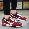Buy Fashion Lace-Up Color Block Design Athletic Shoes Men 43 RED