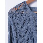 Crochet Bell Sleeve Hollow Out Sweater deal