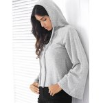 best Casual Style Long Raglan Sleeve Solid Color Women's Hoodie