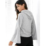 Casual Style Long Raglan Sleeve Solid Color Women's Hoodie deal