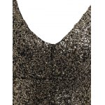Plus Size Sequin Long Sleeve Glitter Bodycon  Short Club Dress for sale
