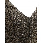 best Plus Size Long Sleeve Sequined Sparkly Dress