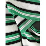 Striped Off-The-Shoulder Hollow Out Knitwear deal