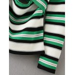 Striped Off-The-Shoulder Hollow Out Knitwear for sale