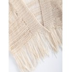 Ethnic Fringe Crochet Translucent Short Cardigan photo