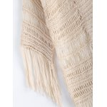 best Ethnic Fringe Crochet Translucent Short Cardigan