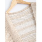 Ethnic Fringe Crochet Translucent Short Cardigan deal
