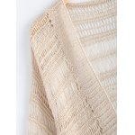 Ethnic Fringe Crochet Translucent Short Cardigan for sale