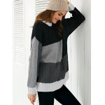 Round Neck  Color Block Sweater for sale