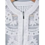 Lace Splicing See-Through Embroidery Coat for sale