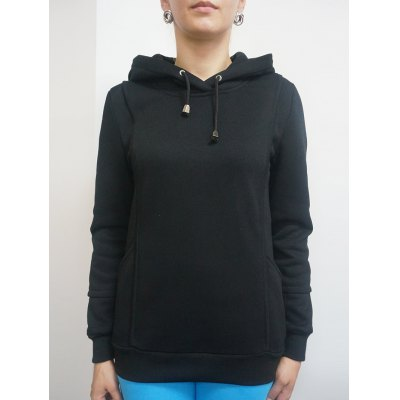 Pure Color Front Pockets Hoodie