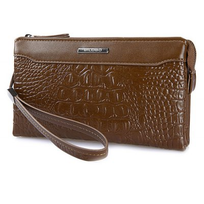 Fashion Metal and Crocodile Print Design Wallet For Men