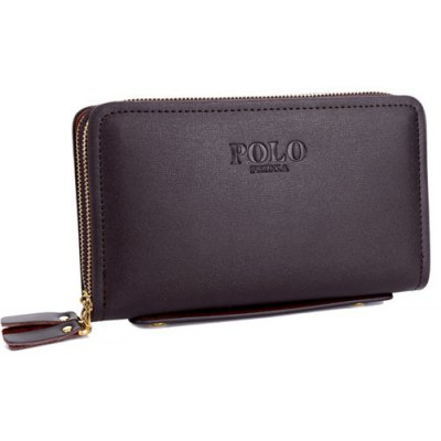 Double Zipper Design Wallet For Men