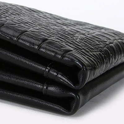 Trendy Crocodile Print and Magnetic Closure Design Wallet For Men