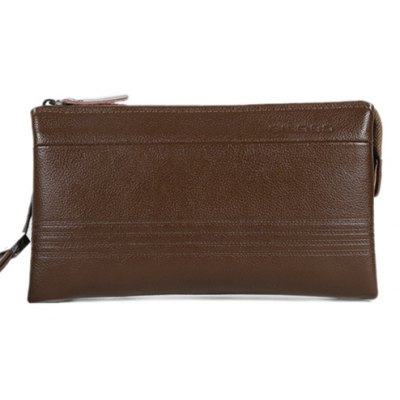 Casual Dark Color and Stitching Design Wallet For Men