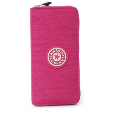 Simple Solid Color and Zip Design Wallet For Women