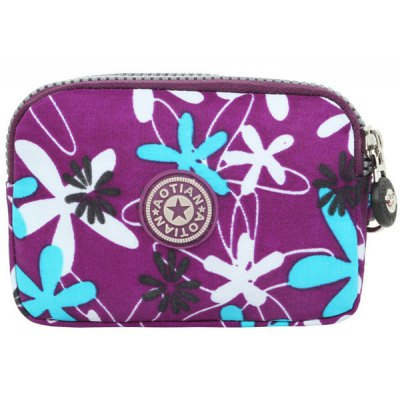 Floral Print Design Coin Purse For Women