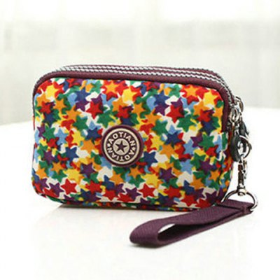 Leisure Zippers and Star Pattern Design Coin Purse For WomenCoin Purse &amp; Card Holder<br>Leisure Zippers and Star Pattern Design Coin Purse For Women<br><br>Gender: For Women<br>Style: Casual<br>Closure Type: Zipper<br>Pattern Type: Star<br>Main Material: Cotton Fabric<br>Length: 14CM<br>Width: 6CM<br>Height: 10CM<br>Weight: 0.110kg<br>Package Contents: 1 x Coin Purse