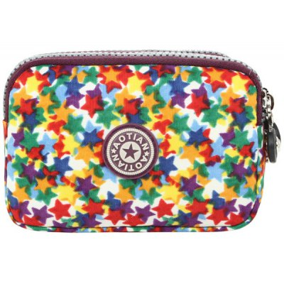 Leisure Zippers and Star Pattern Design Coin Purse For Women
