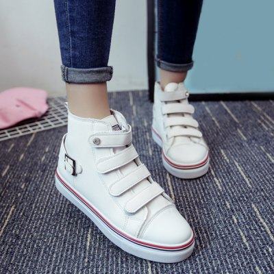 Buckle Strap Stitching Athletic Shoes