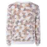 cheap Color Block Long Sleeves Fleece Sweatshirt