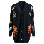 Loose Embroidered Cardigan