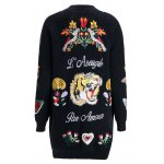 cheap Loose Embroidered Cardigan
