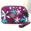 Casual Color Splicing and Floral Print Design Coin Purse For Women deal